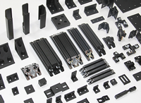 black extrusions and brackets